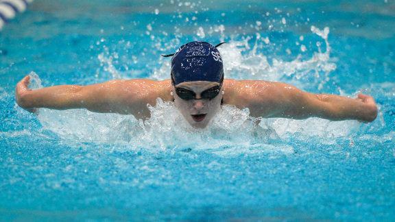 megan siverling sets pool record as penn state sweeps west virginia