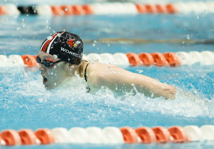 Louisville Swimming And Diving Leads Florida State After