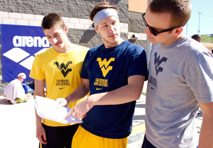 West Virginia Swimming Opens Big 12 Acc Challenge With Split Against Georgia Tech