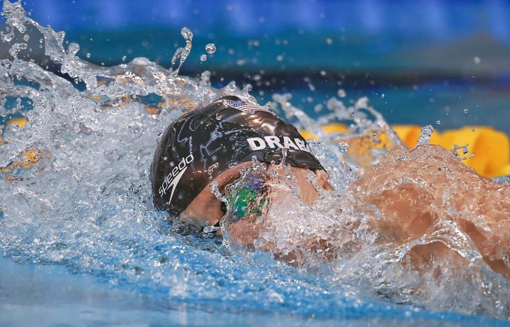 2 May 2015; Katie Drabot, NCSA, competes in the 'B' final of the women's 400m freestyle event during the 2015 Irish Open Swimming Championships at the National Aquatic Centre, Abbotstown, Dublin. Picture credit: Stephen McCarthy / SPORTSFILE