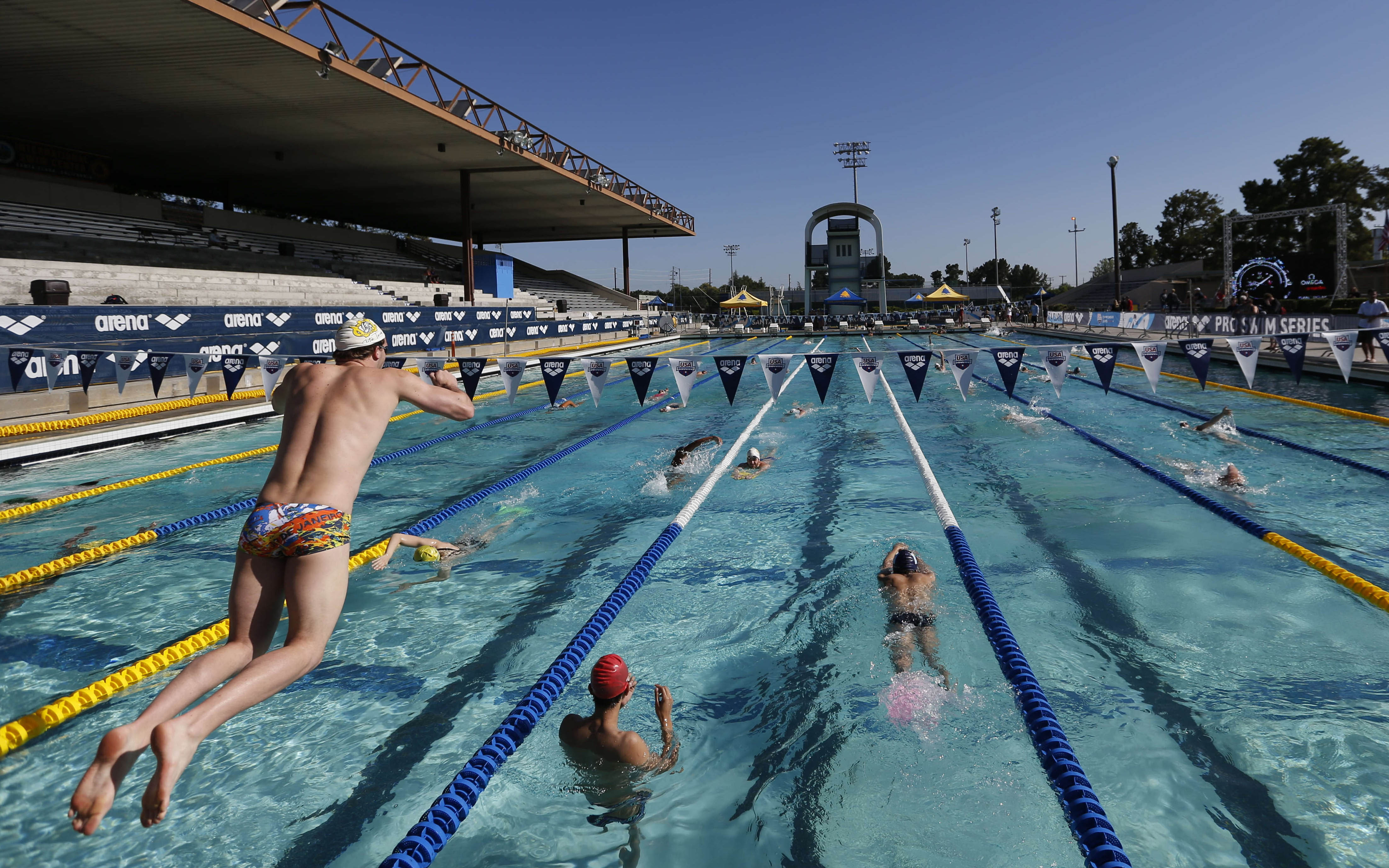 swimming arena pro series santa clara day one swimming world news