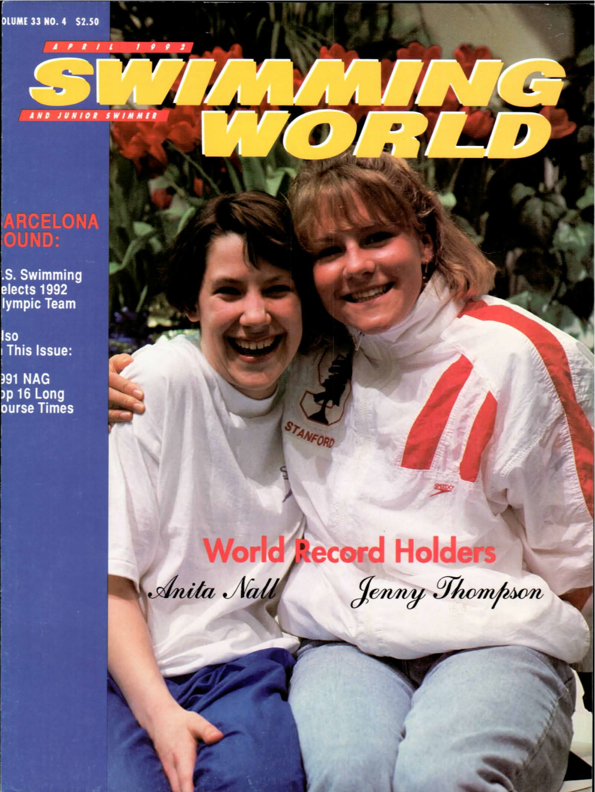 swimming-world-magazine-april-1992-cover