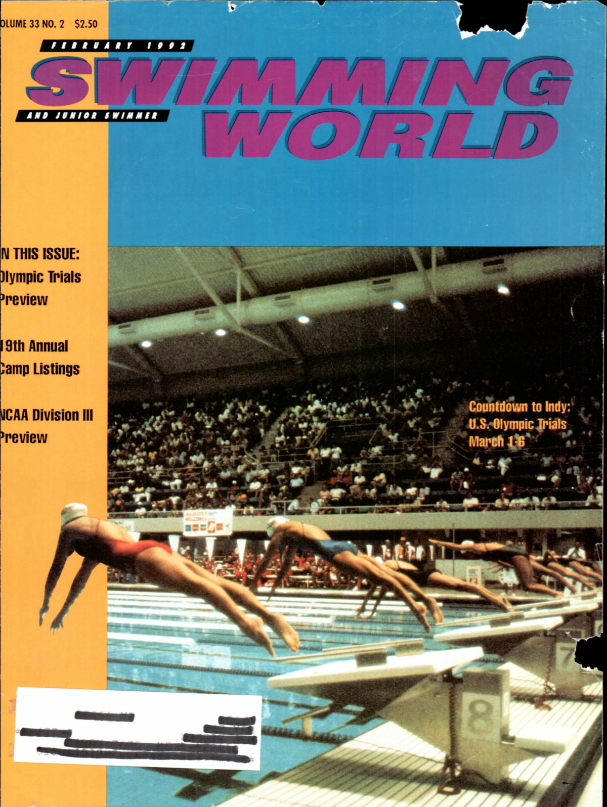 swimming-world-magazine-february-1992-cover