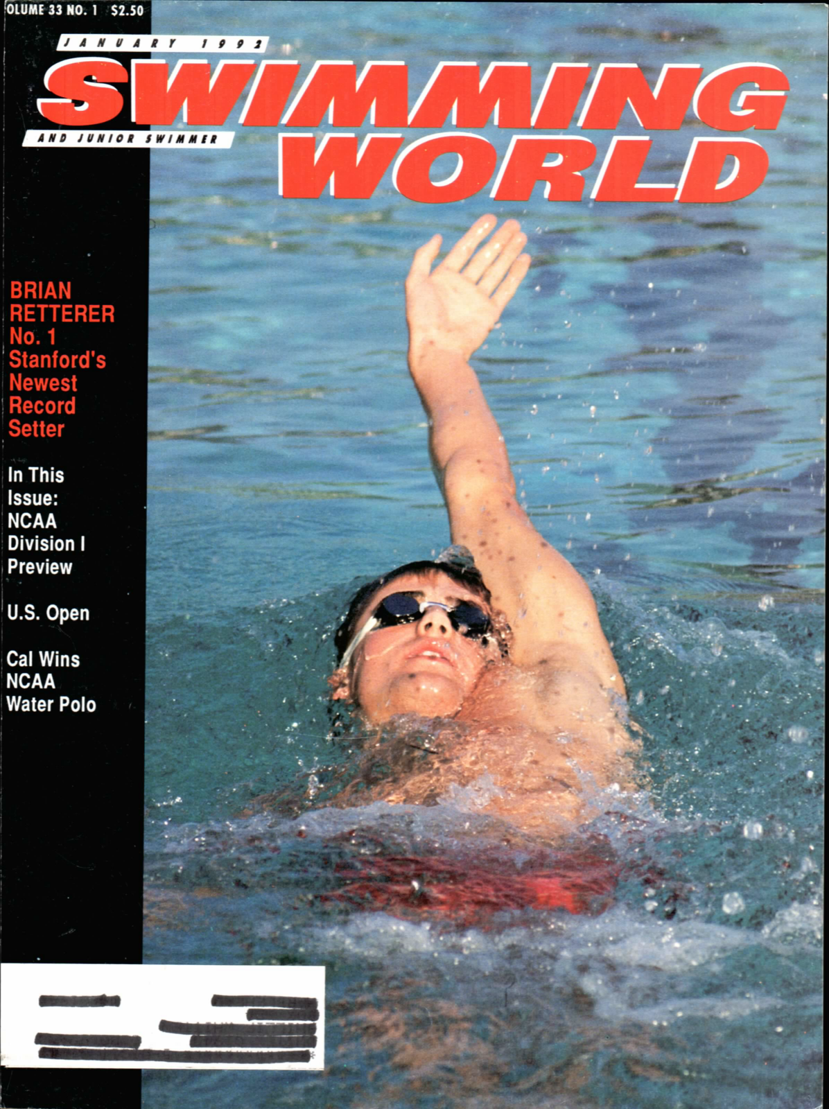 swimming-world-magazine-january-1992-cover