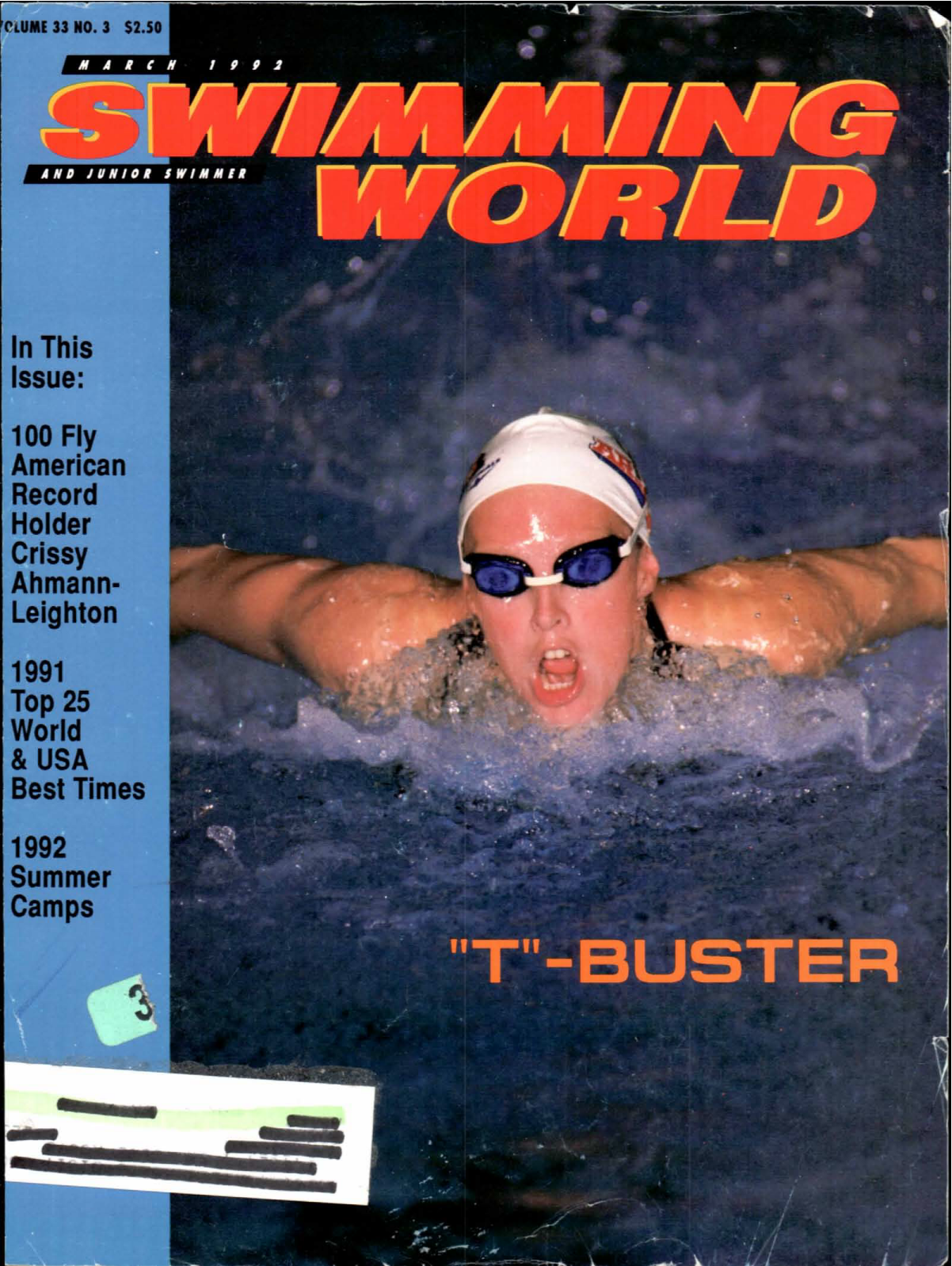 swimming-world-magazine-march-1992-cover