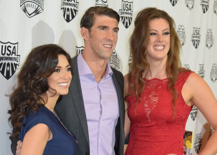 nicole-johnson-michael-phelps-allison-schmitt-golden-goggles-2015