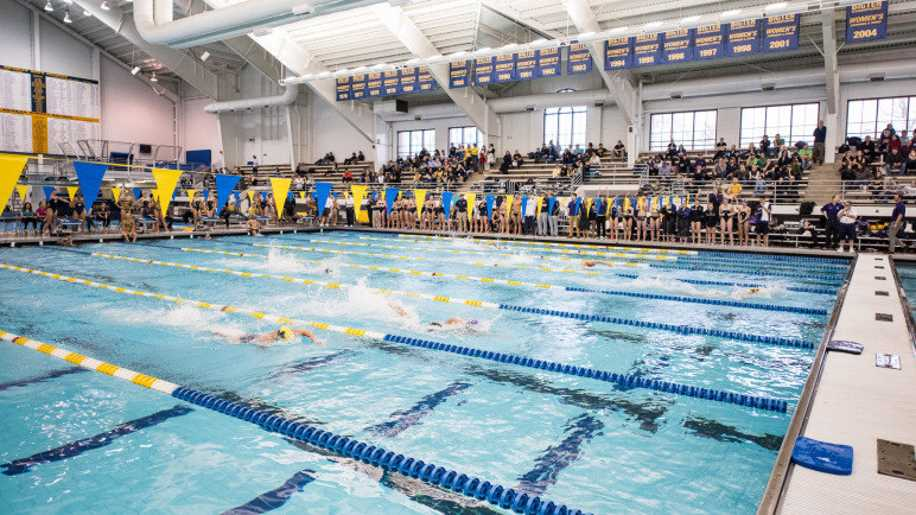 Michigan Swimming and Diving vs. Northwestern and Notre Dame at Canham Natatoriumr in Ann Arbor, MI, on Jan 10, 2015.