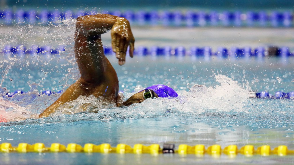 DURBAN, SOUTH AFRICA - APRIL 13: Achmat Hassiem during the finals session 100m freestyle disabled on day 5 of the SA National Aquatic Championships and Olympic Trials on April 13 , 2016 at the Kings Park Aquatic Center pool in Durban, South Africa. Photo Credit / Anesh Debiky/Swim SA