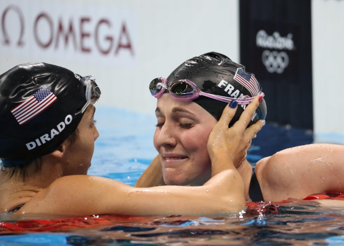 missy franklin, maya dirado, embrace-disappointment-rio