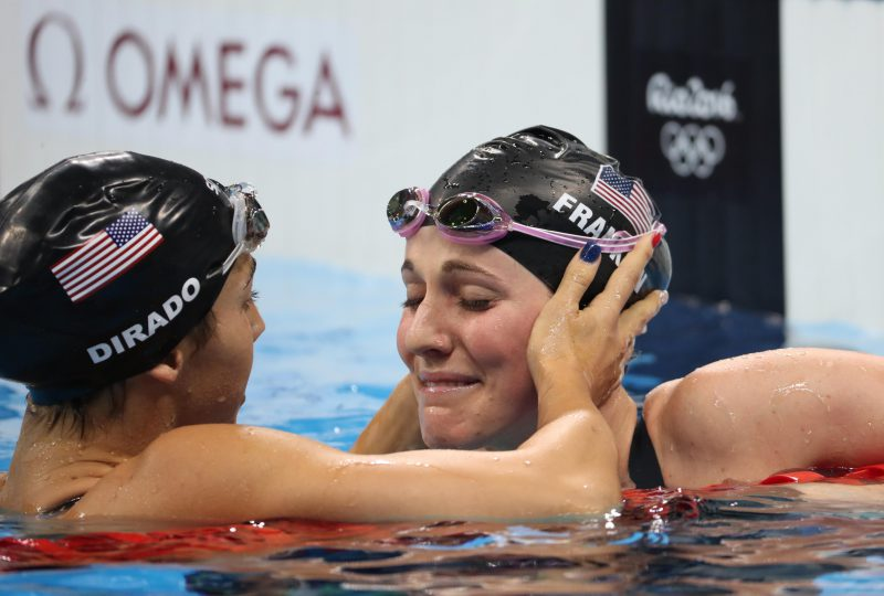 missy-franklin-maya-dirado-embrace-disappointment-rio