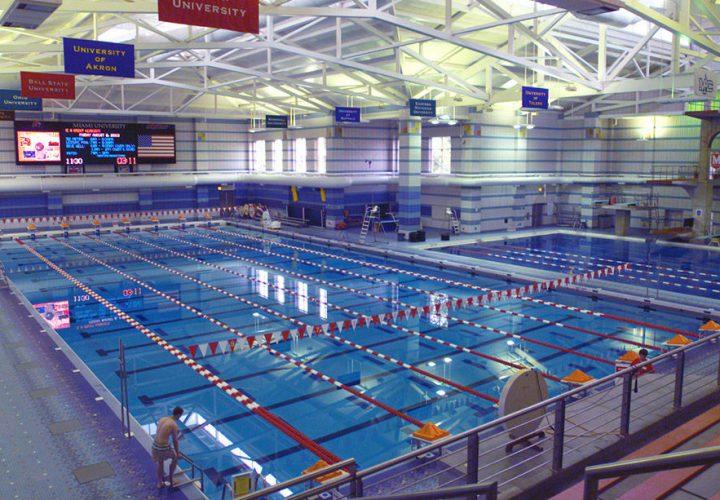 Miami University S Corwin M Nixon Aquatic Center Upgrades Video Display With Colorado Time