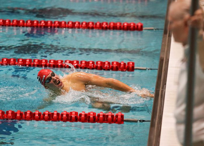Georgia's Chase Kalisz during the Bulldogs' swim meet against Florida at Gabrielsen Natatorium in Athens, Ga., on October 28, 2016. (Photo by Cory A. Cole)