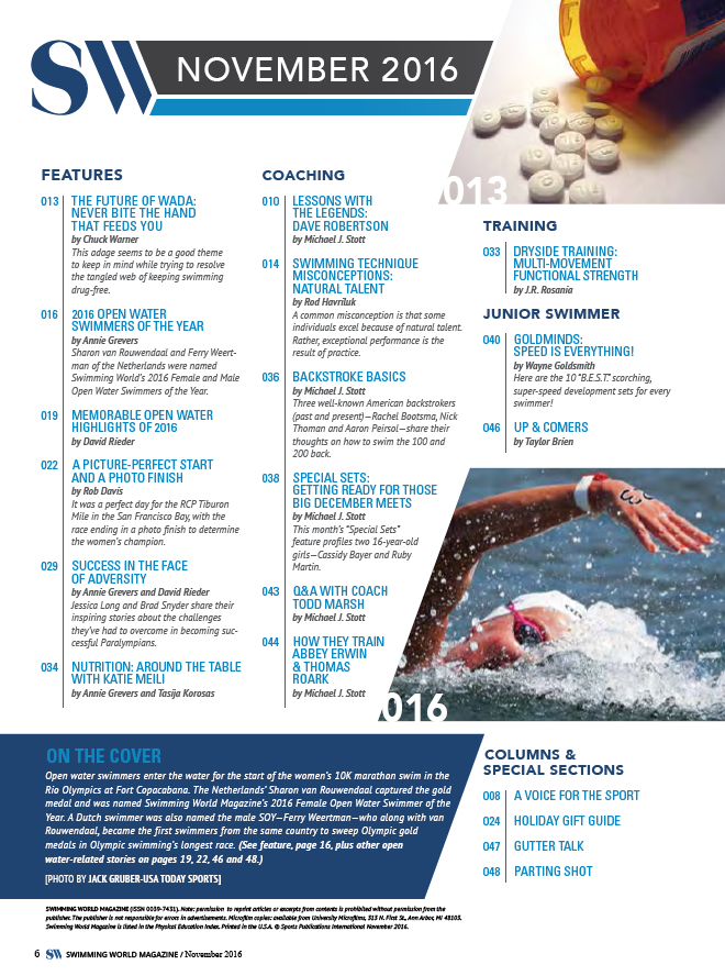 Swimming World Magazine November 2016 Issue