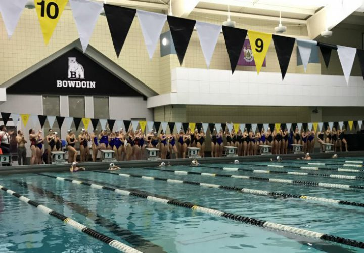 Four nescac teams swim women 39 s relay in recognition of - Trinity college swimming pool timetable ...