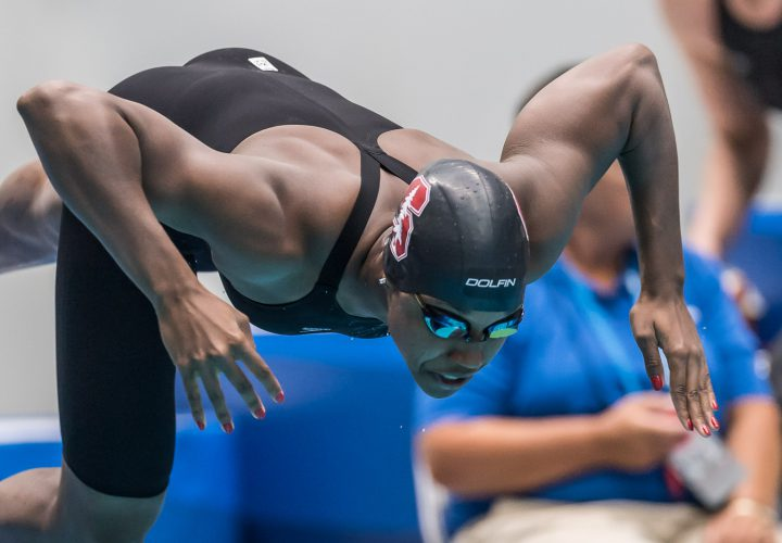 Simone manuel breaks ncaa record just misses american record in 50 free swimming world news - Dive recorder results ...