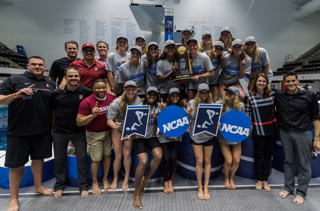 stanford-champions, ncaa division i swimming