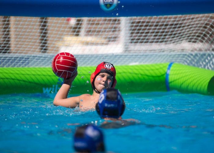 July 29, 2016; Cupertino, CA, USA; U10 AmericanRiver vs Tiburon Peninsula Club during USA Water Polo Junior Olympics. Photo Credit: Catharyn Hayne - KLC fotos for USA Water Polo