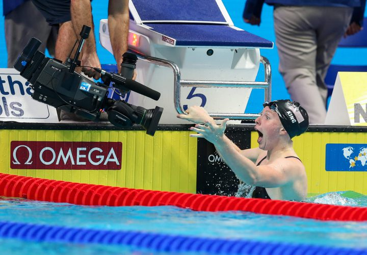 lilly king kylie masse and adam peaty smash world records on third night of swimming in. Black Bedroom Furniture Sets. Home Design Ideas