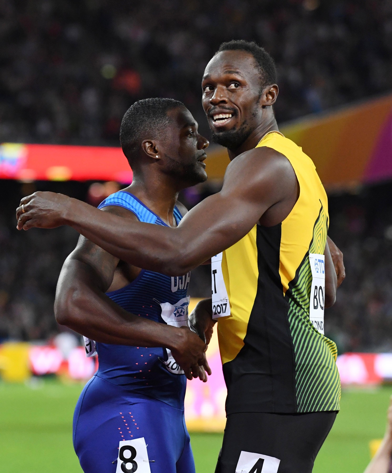 usain-bolt-justin-gatlin-embrace-london