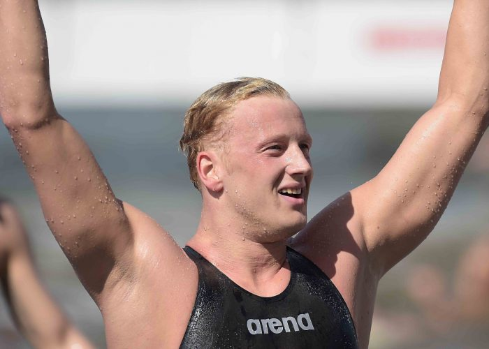 Foto Fabio Ferrari - LaPresse 27/07/2015 Kazan ( Russia ) Sport 16 Campionati del mondo FINA 2015 - Open Water - 10km Uomini. nella foto: Ferry Weertman (NED) Photo Fabio Ferrari - LaPresse 27 July 2015 Kazan ( Russian ) Sport 16th FINA World Championship 2015 - Open Water - 10km Men. in the picture: Ferry Weertman (NED)