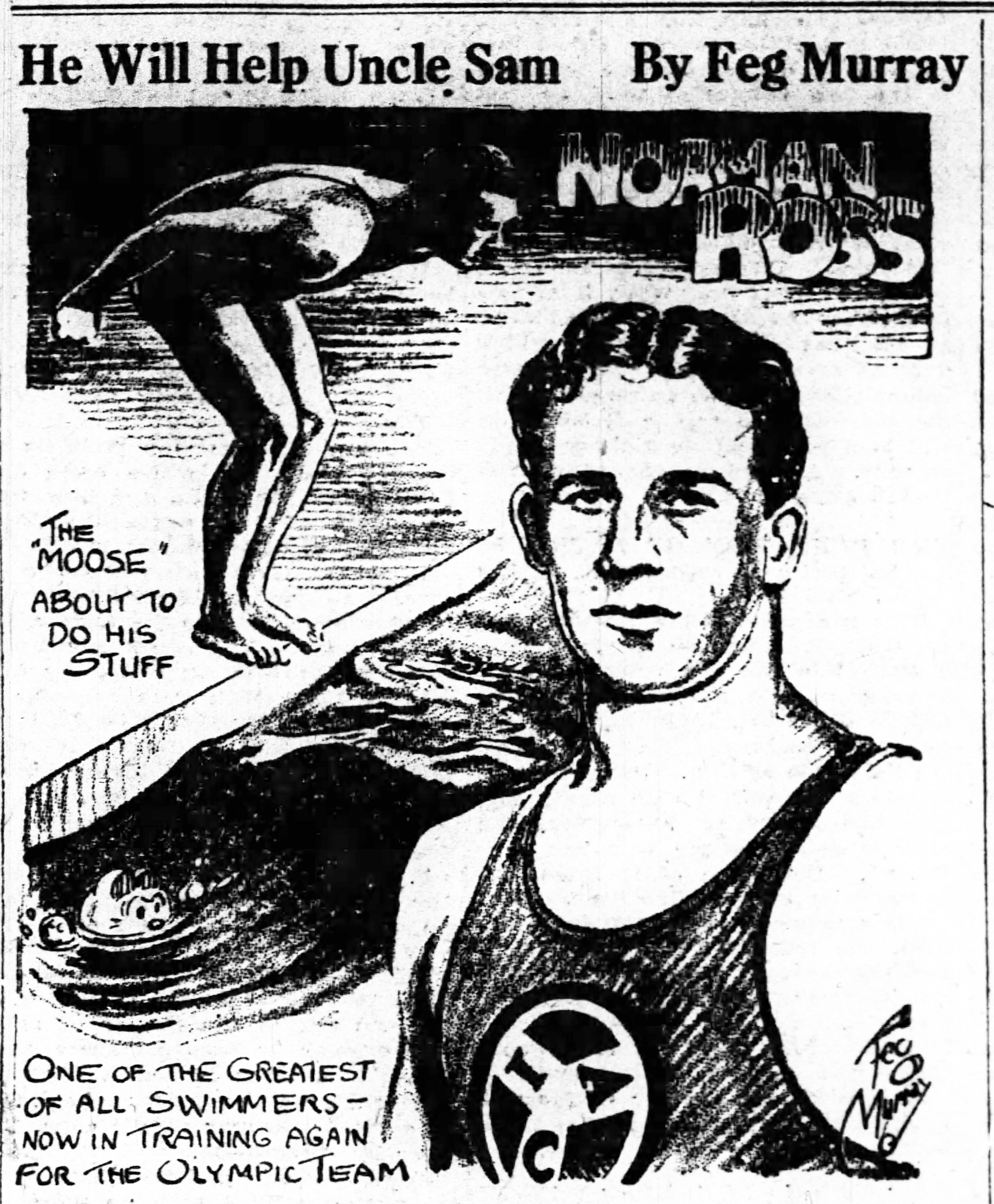 the swimming stars of the 1920 olympic games swimming world news 1920s Factory Girls norman ross feg murray small
