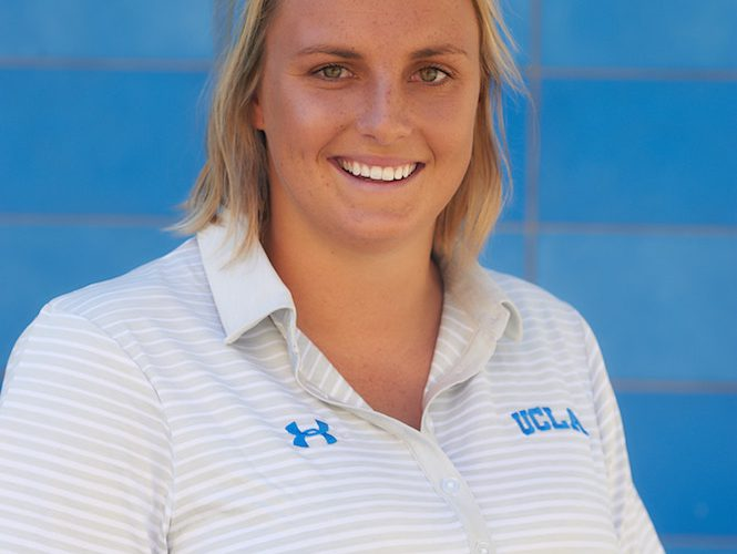 UCLA Athletics - 2018 UCLA Women's Water Polo Media Day portraits and team photos, Spieker Aquatic Center, UCLA, Los Angeles, CA. October 10th, 2017 Copyright Don Liebig/ASUCLA Halligan_Bronte_06.NEF