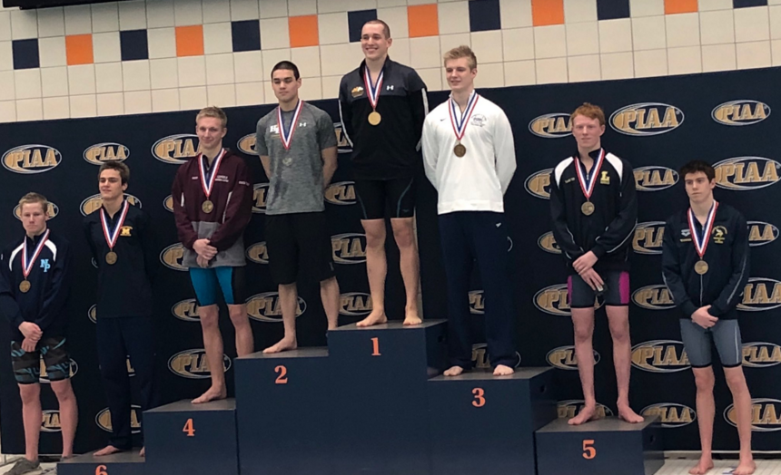 pennsylvania-2a-200-freestyle-podium