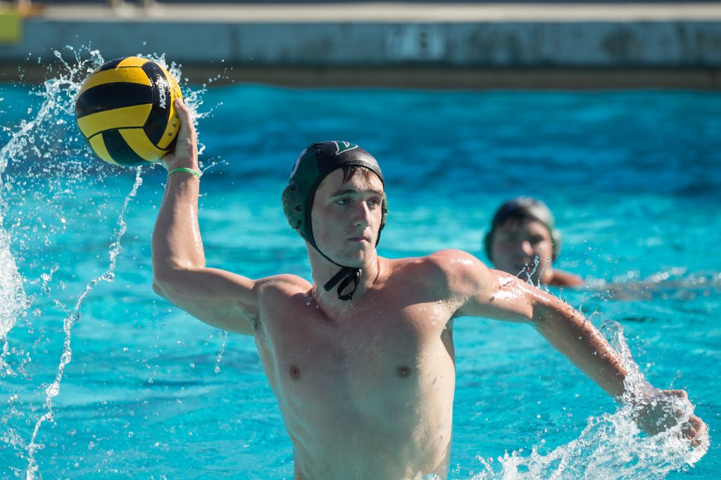 October 28, 2017; Novato High School, Novato, California, USA; High School Water Polo : MCAL: Sir Francis Drake High School Varsity vs Tamalpais High School Varsity; Drake's Emerson Sullivan Photo credit: Catharyn Hayne- KLC fotos