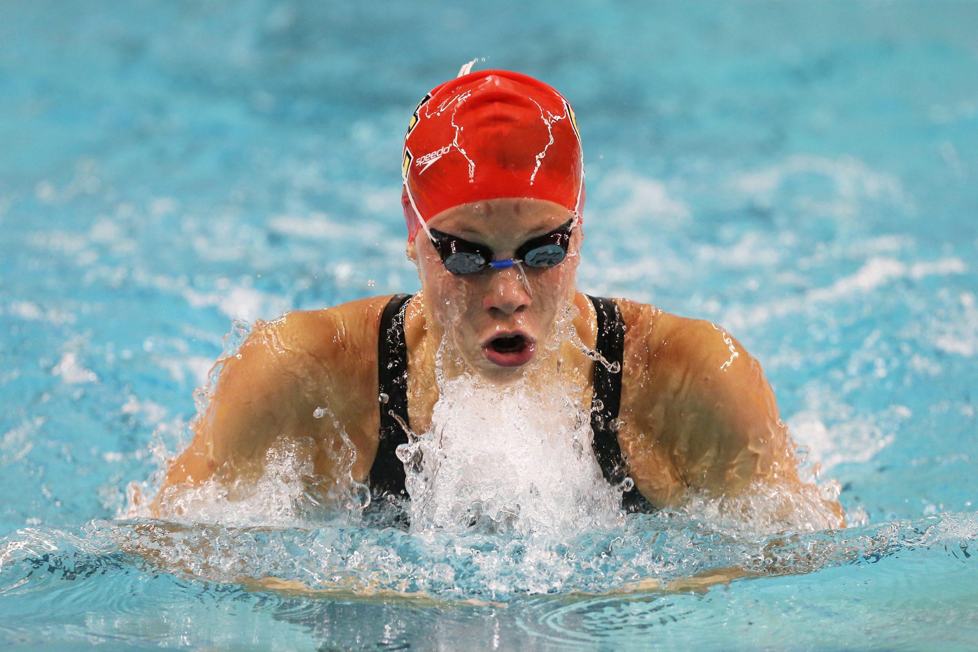 College Swim Meet, Womens 4 x 100 Freestyle Relay Race