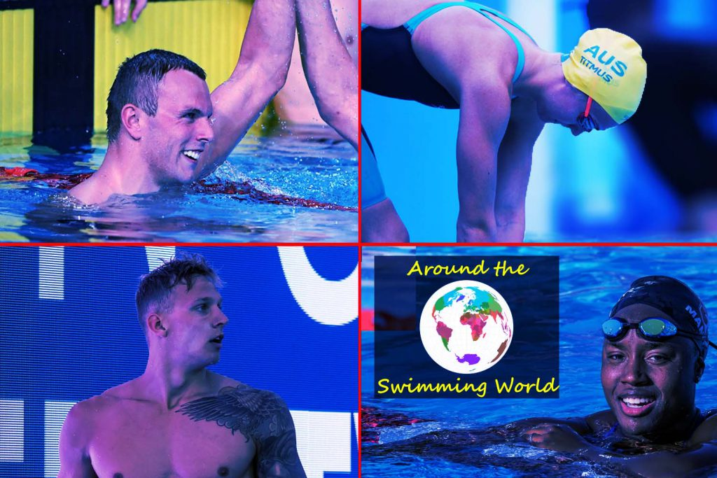 kyle chalmers, ariarne titmus, caeleb dressel, simone manuel, around the swimming world