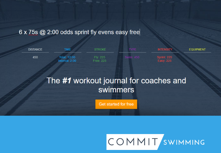 Commit Swimming Personal Settings