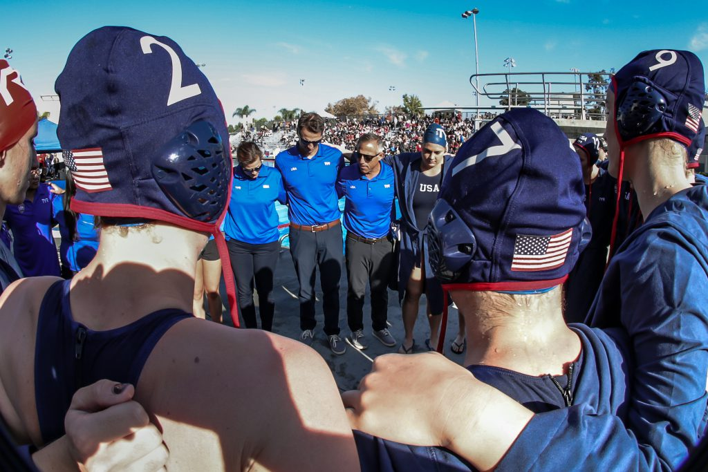 December 16, 2018; Woollett Aquatics Center, Irvine, CA, USA; USA Water Polo Women's Exhibition Series: USA vs China; Photo credit: Catharyn Hayne for USA Water Polo