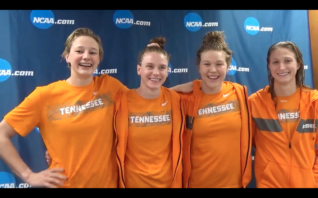Tennessee Put Disappointments Behind to Win 200 Medley Relay (VIDEO INTERVIEW) - Swimming World News